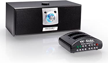 TV Ears Digital Wireless Speaker System, Place near your chair or couch, transmitter connects to both Digital and Analog TV's and is compatible with TV Ears headsets, TV Hearing Aid Devices, Hearing Assistance for Seniors, Hard of Hearing, Voice Clarifying, Dr Recommended-11290