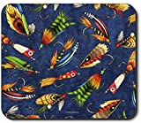 Art Plates Brand Mouse Pad - Fly Fishing Lures