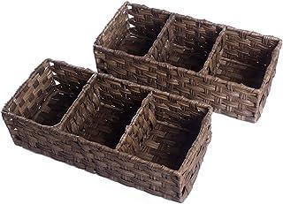 HOSROOME Toilet Paper Basket Storage Basket for Toilet Tank Top Bathroom Storage Organizer Basket Bin Decorative Basket fo...