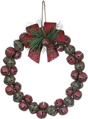 Sullivans Bell W Red Bow Wreath