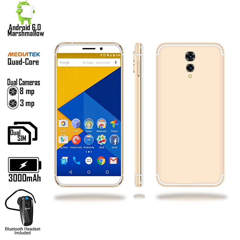 4G LTE Unlocked QuadCore Android Smartphone (5.6-inch Display + QuadCore 1.3GHz + 1GB RAM + Bluetooth Compatible Headset)