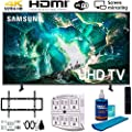 Samsung RU8000 LED Smart 4K UHD TV (2019) w/Deco Mount Slim Flat Wall Mount Ultimate Bundle, Screen Cleaner (Large Bottle) and SurgePro 6-Outlet Surge Adapter w/Night Light