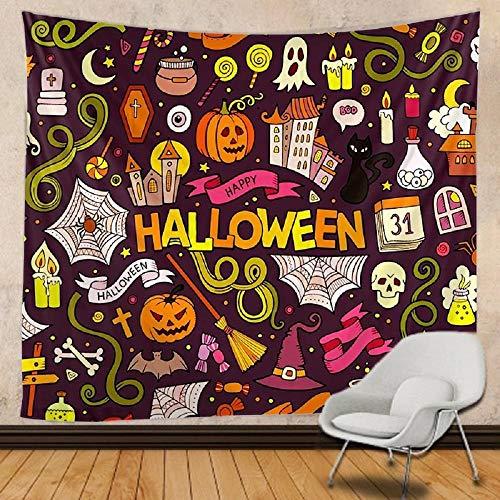 Tapiz de Halloween Mandala tapiz de tela de pared colchón de viaje decoración bohemia 150cmX100cm