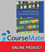 CourseMate (with Lab Manual) for Malik's C++ Programming: From Problem Analysis to Program Design, 7th Edition