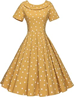 Women's 1950s Polka Dot Vintage Dresses Audrey Hepburn Style Party Dresses