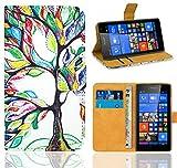 Microsoft Lumia 535 Handy Tasche, FoneExpert® Wallet Hülle Flip Cover Hüllen Etui Ledertasche Lederhülle Premium Schutzhülle für Microsoft Lumia 535 (Pattern 5)