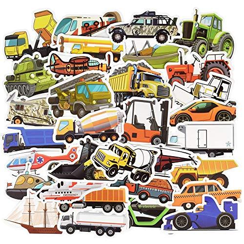Blour Ingenierie stickers voor voertuigen, auto, schattig, bus, vrachtwagen, anime, stickers, voor knutselen, koffer, laptop, skateboard, voor kinderen, 50 stuks