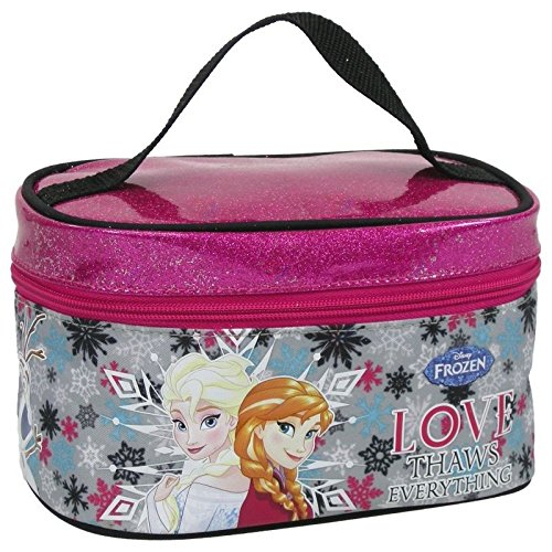 """Maxi& Mini, motivo """"frozen la regina delle nevi"""", astuccio di bellezza, trousse da toilette, personaggio Disney"""