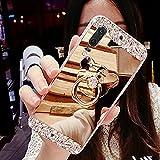 HMTECH Huawei Honor 8X Case Glitter Bling Diamond Plating