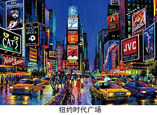 LWQHJJJ 500-1000-1500 Piece Puzzle New York Times Square DIY Juego creativo abstracto Toy Puzzle -500sheet
