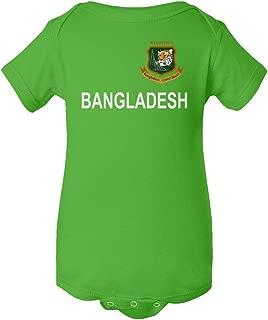 SMARTZONE Cricket Bangladesh Jersey Style Fans Supporter Baby Bodysuit