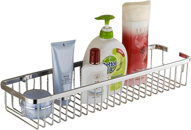ZSPPPP Bathroom Shelf Kitchen Bathroom Bathroom Shelf Square Single Layer Solid Bathroom Grid (Size   30  13.5  7cm)