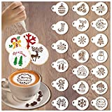 Christmas Stencils for Christmas Cookie Baking Decorations, 20pcs Coffee Stencils Stencil Cake Decorating Supplies, Drawing Painting Stencils Templates Molds for Christmas Crafts