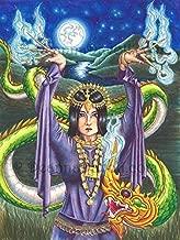 9 of Wands Art Print 78 Tarot Deck Art Wall Art Dragon Art Asian Art 78 Tarot Carnival Art 8x10, 11x14