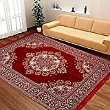 Rinki Home Furnishing Floral Carpet (Multicolour, Velvet, 3x5 ft)