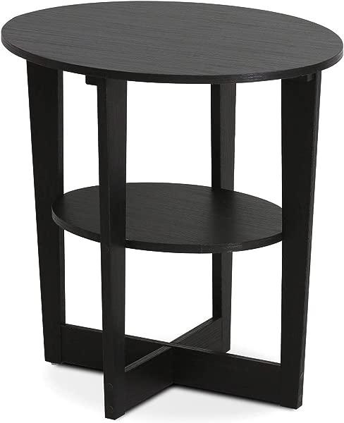Wood Style Office Home Furniture Premium Jaya End Table One Walnut
