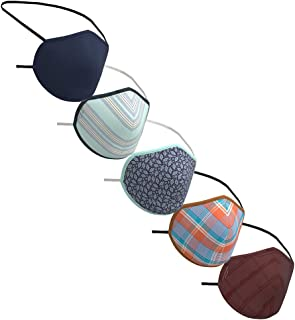 Peter England Men's Cotton Face Mask (Pack of 5) (PECLMSKW52031_Assorted_Free Size)