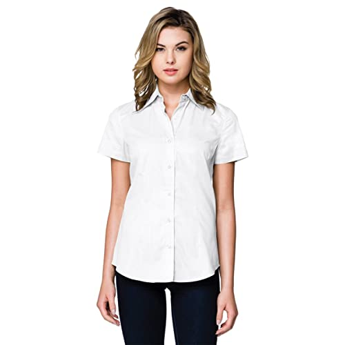 c818df82f04122 Tri-Mountain WL700SS Womens 3.8 Oz Short Sleeve Woven Shirt
