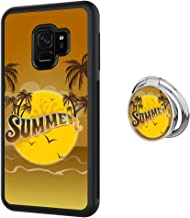 Samsung Galaxy S9 case Summer Palm Tree Full Body Case with Holder Ring Cover Protector Heavy Duty Protection case Shockproof case for Samsung Galaxy S9