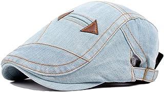 Retro Beret Cap Wool Ladies Fashion Men Washed Denim Cap Fake Pocket Accessories (Color : Light blue, Size : 56-58cm)