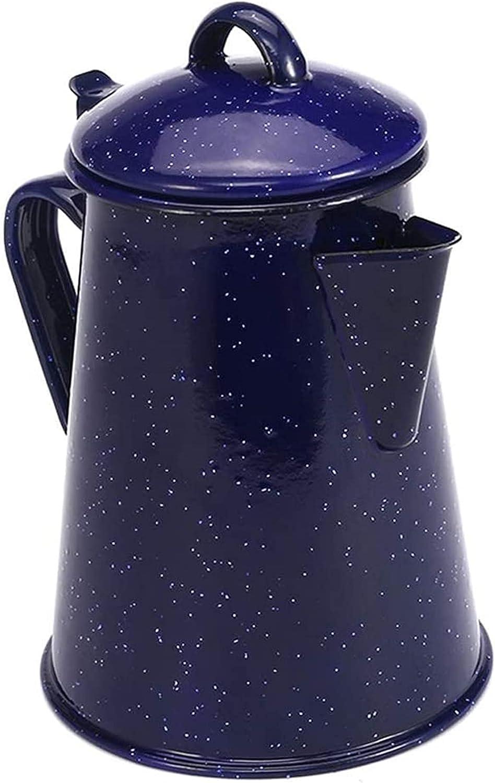 YHWD Kitchen Enamel OFFicial Coffee Pot Max 58% OFF Decor Kettle Vintage Teapot Home