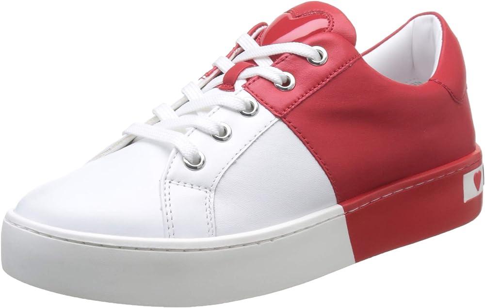 Love moschino,scarpe sneakers per donna in pelle JA15013G1A 1