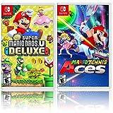 New Super Mario Bros. U Deluxe + Mario Tennis Aces - Two Game Bundle - Nintendo Switch