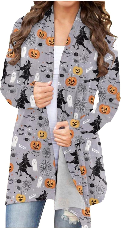 BAGELISE Halloween Hoodies for Women Pullover,Watercolor Print Crewneck Sweatshirts Casual Long Sleeve Sweater Lightweight Blouses