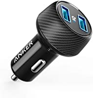 Anker 24W 4.8A Car Charger, 2-Port Ultra-Compact PowerDrive 2 Elite with PowerIQ Technology and LED for iPhone...