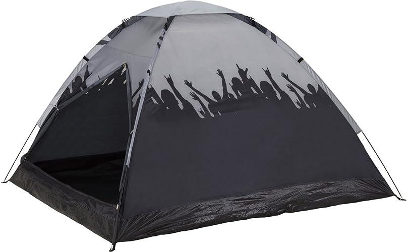 McKinley Tente de camping pour 3personnes Monodome 3Print gris Noir