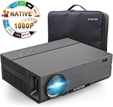 Projector,Hompow 2019 Upgraded Native 1080P Video Projector 5000Lux 80,000 Hours Led Lamp for PPT Business Presentations Home Theater Compatible with TV Stick/HDMI/VGA/USB/TV Box/Laptop/DVD/PS4