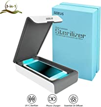 Portable UV Cell Phone Sanitizer, SEIEUS Smartphone Sterilizer and Charger with Aromatherapy Function, Sanitize Cleaner with USB Charging for iPhone Android Smart Phone Toothbrush Jewelry Watch