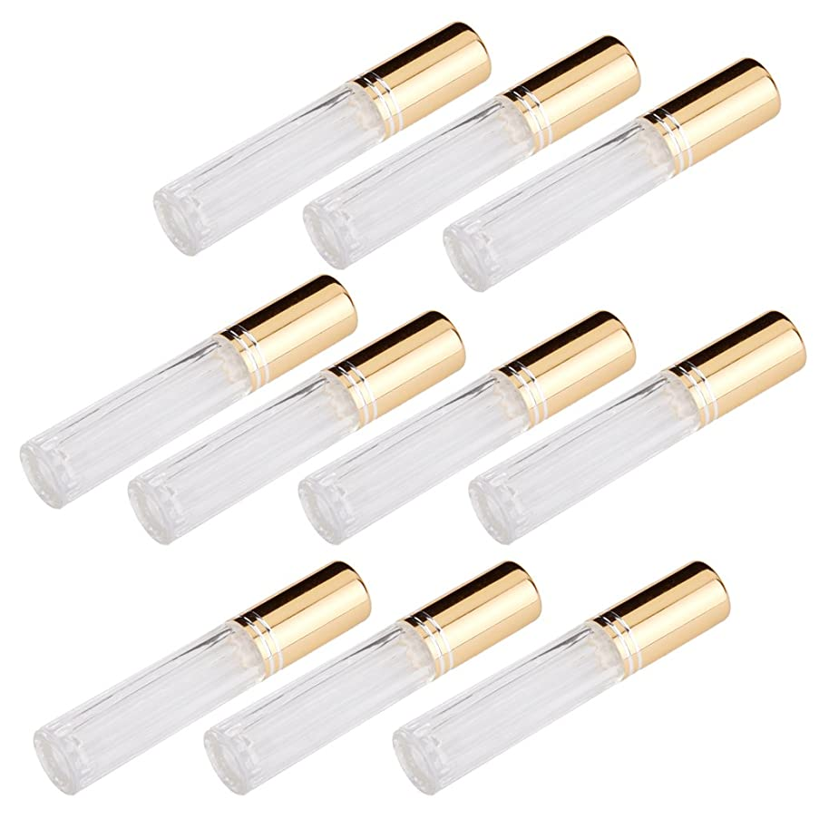 現代のナースパワーFenteer 10本セット 透明 交換 旅行 空 ロールオン ガラス 香水瓶 容器 男性 女性3ml