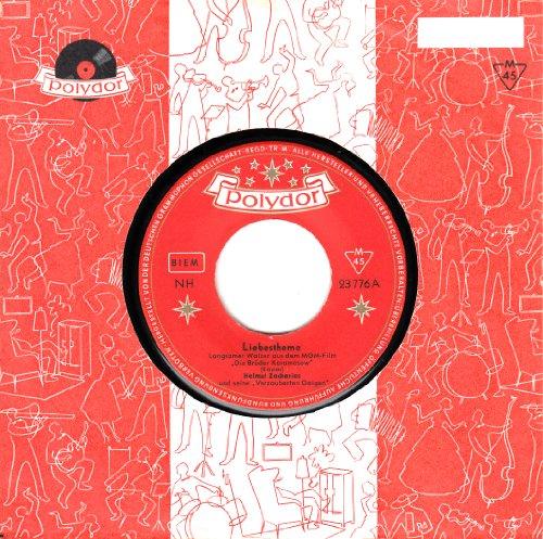 """ZACHARIAS, HELMUT und seine """"Verzauberten Geigen"""" / Liebesthema aus dem MGM-Film """" Die Brüder Karamasow """" / Die verlorene Melodie / Filmmusik / OST / ORIGINAL SOUND TRACK / Polydor # 23 776 / Firmen-Loch-Hülle / Deutsche Pressung / 7"""" Vinyl SP Single-Schallplatte /"""
