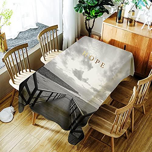 XXDD Mantel Impermeable con Estampado de flamencos de Animales de Plantas Tropicales decoración del hogar Mantel Rectangular Lavable a Prueba de Polvo A1 140x160cm