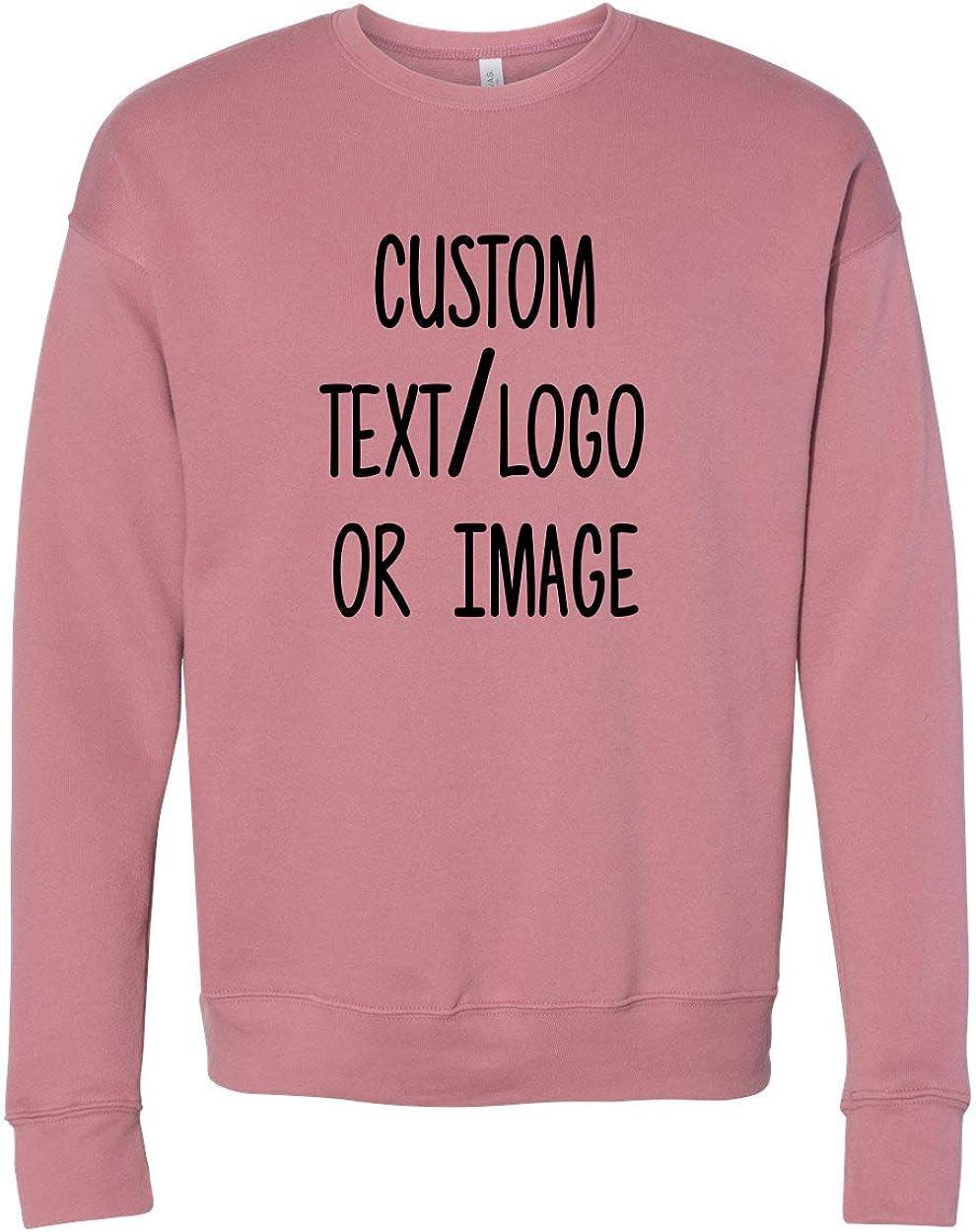 INK STITCH Unisex Sponge Fleece Design Your Own Customized Sweatshirts Custom Long Sleeve Tees - 15 Colors