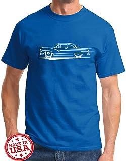 1955 1956 Ford Fairlane Hardtop Redline Series Classic Outline Design Tshirt