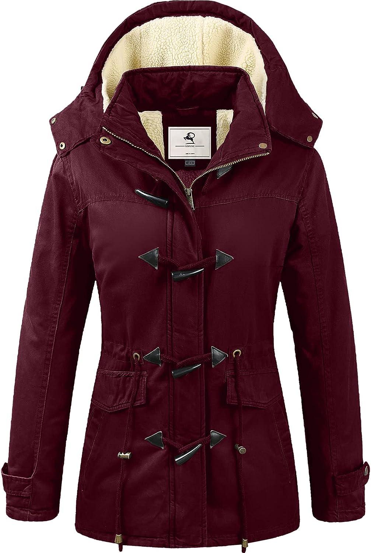 quality assurance Uoiuxc Women's Limited time cheap sale Warm Winter Coat Jacke Fleece Hooded Lined Parkas