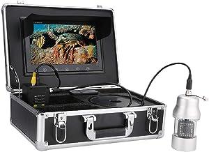 Onderwatercamera Fishfinder Videocamera kit, 360 Graden Draaibaar met Afstandsbediening, 38LED IP68 Waterdicht 10 inch HD-...
