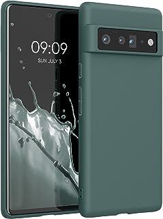 kwmobile telefoonhoesje compatibel met Google Pixel 6 Pro - Hoesje voor smartphone - Back cover in blauwgroen