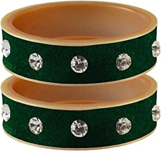 Vidhya Kangan Bangle Set for Women (Green) (bans13622-2.8)