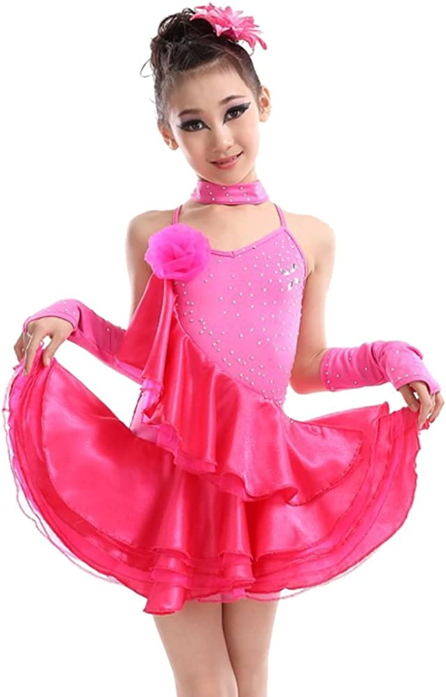 BOZEVON Sequins Fringes Max 63% OFF Costume Irreguar Dresses Dance Dan Very popular Latin