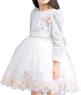YOJAP 子供ドレス 女の子 フォーマルドレス ワンピース キッズ ドレス プリンセスドレス 長袖 フォーマル パーティー ピアノ 結婚式 入園式 発表会 演奏会