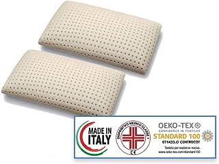 Materassimemory.eu Saponetta - Set de almohadas de espuma con memoria (73 x 42 x 15 cm, modelo perforado)
