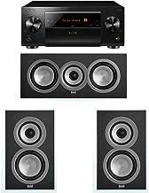 ELAC Uni-Fi 3.0 System with 2 ELAC UB5 Bookshelf Speakers, 1 UC5 Center Speaker, 1 Pioneer SC-LX801 A/V Receiver