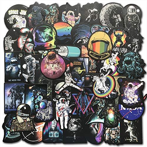 DSSJ Cool Outer Space Stickers Toys for Children Alien UFO Astronaut Rocket Ship Planet Sticker To Skateboard Luggage Laptop50pcs