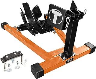 Titan Bulldog w/Spring Loaded Cradle, Motorcycle Wheel Chock w/Quick Release Trailer Kit - Orange