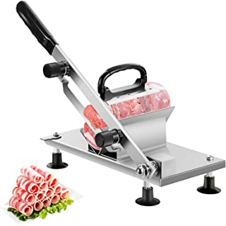 aingycy Frozen Meat Slicer Manual Hand Slicing Machine Stainless Steel Frozen Beef Mutton Bacon Meat Cutter Vegetable Frui...