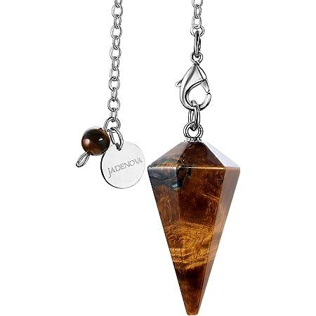 Pendulum Necklace Third Eye Gemstone Pendulum Pendant Crystal Pendulum Chakra Pendulum Necklace. Gemstone Sphere Jewelry