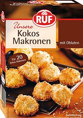 RUF Kokos Makronen, saftig und weich mit Oblaten, 385 g